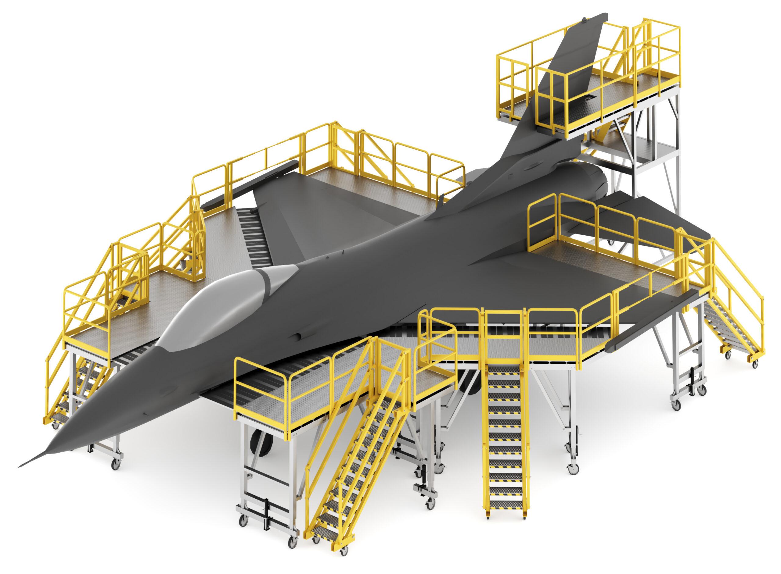 F-16 Aircraft Maintenance Stand